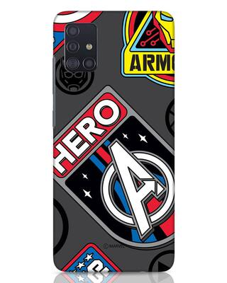 Shop Avenger Badge Samsung Galaxy A51 Mobile Cover (AVL)-Front