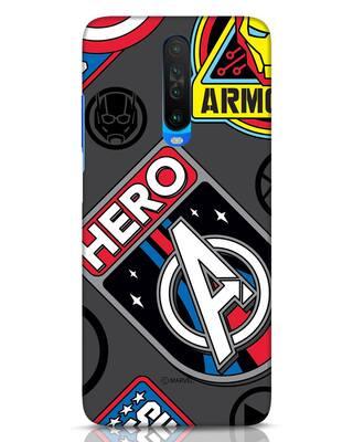 Shop Avenger Badge Xiaomi Poco X2 Mobile Cover (AVL)-Front