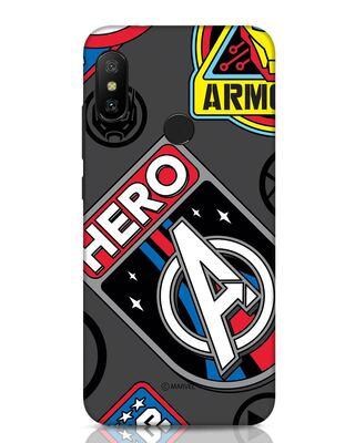 Shop Avenger Badge Xiaomi Redmi Note 6 Pro Mobile Cover (AVL)-Front