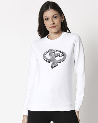 Shop Avengers 3D Fleece Sweater-Front