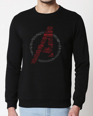 Shop Avengers All Stars Fleece Sweater (AVL)-Front