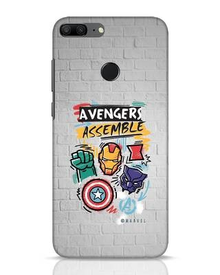 Shop Avengers Assemble Huawei Honor 9 Lite Mobile Cover (AVL)-Front