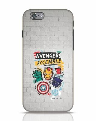 Shop Avengers Assemble iPhone 6s Mobile Cover (AVL)-Front
