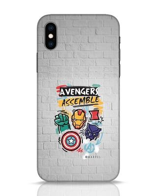 Shop Avengers Assemble iPhone XS Mobile Cover (AVL)-Front