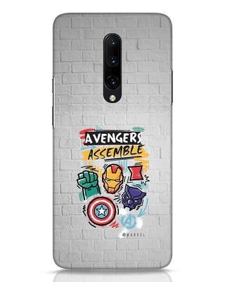 Shop Avengers Assemble OnePlus 7 Pro Mobile Cover (AVL)-Front
