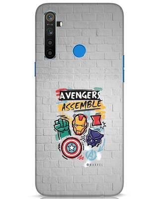 Shop Avengers Assemble Realme 5 Mobile Cover (AVL)-Front