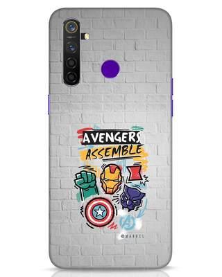 Shop Avengers Assemble Realme 5 Pro Mobile Cover (AVL)-Front