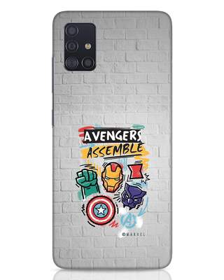 Shop Avengers Assemble Samsung Galaxy A51 Mobile Cover (AVL)-Front
