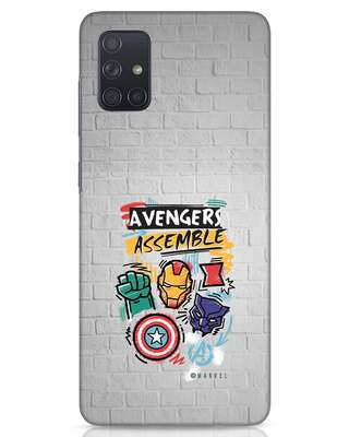 Shop Avengers Assemble Samsung Galaxy A71 Mobile Cover (AVL)-Front