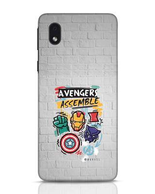 Shop Avengers Assemble Samsung Galaxy M01 Mobile Cover (AVL)-Front