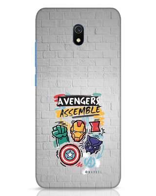 Shop Avengers Assemble Xiaomi Redmi 8A Dual Mobile Cover (AVL)-Front