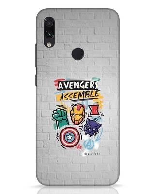 Shop Avengers Assemble Xiaomi Redmi Note 7 Pro Mobile Cover (AVL)-Front