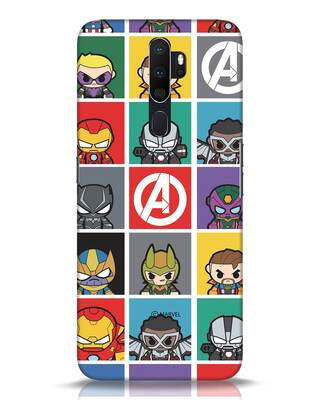 Shop Avengers Chibi Oppo A5 2020 Mobile Cover (AVL)-Front