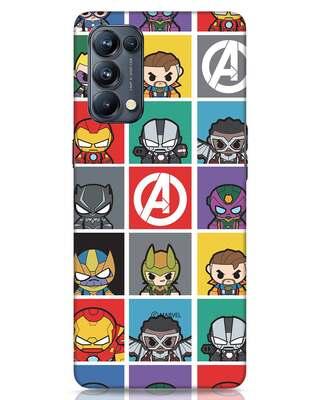 Shop Avengers Chibi Oppo Reno 5 Pro Mobile Cover (AVL)-Front