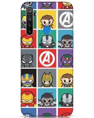 Shop Avengers Chibi Realme 5 Mobile Cover (AVL)-Front