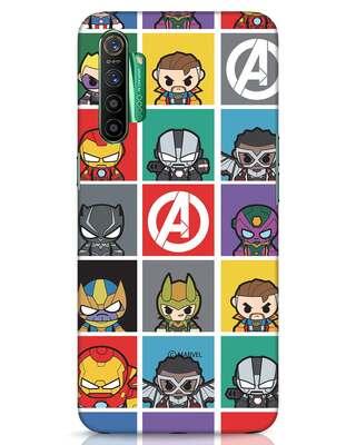 Shop Avengers Chibi Realme X2 Mobile Cover (AVL)-Front
