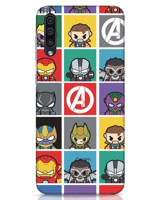 Shop Avengers Chibi Samsung Galaxy A50 Mobile Cover (AVL)-Front