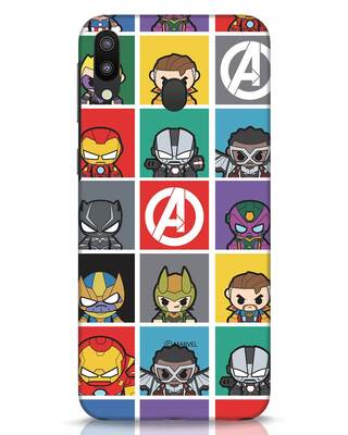 Shop Avengers Chibi Samsung Galaxy M20 Mobile Cover (AVL)-Front