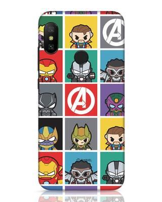 Shop Avengers Chibi Xiaomi Redmi 6 Pro Mobile Cover (AVL)-Front