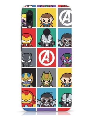 Shop Avengers Chibi Xiaomi Redmi Note 7 Mobile Cover (AVL)-Front