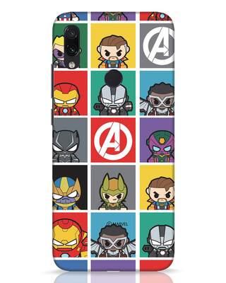 Shop Avengers Chibi Xiaomi Redmi Note 7 Pro Mobile Cover (AVL)-Front