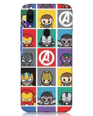 Shop Avengers Chibi Xiaomi Redmi Y3 Mobile Cover (AVL)-Front