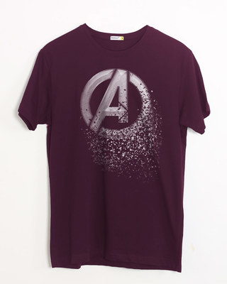 Shop Avengers Dispersion Half Sleeve T-Shirt (AVL)-Front