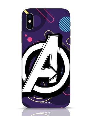 Shop Avengers Doodle iPhone XS Mobile Cover (AVL)-Front