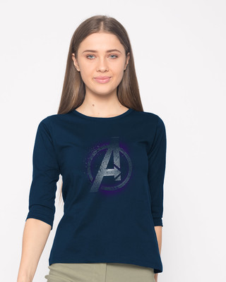 Shop Avengers Endgame Round Neck 3/4th Sleeve T-Shirt (AVL)-Front