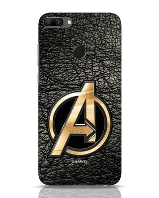 Shop Avengers Gold Logo Huawei Honor 9N Mobile Cover-Front