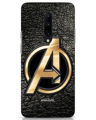 Shop Avengers Gold Logo OnePlus 7 Pro Mobile Cover-Front