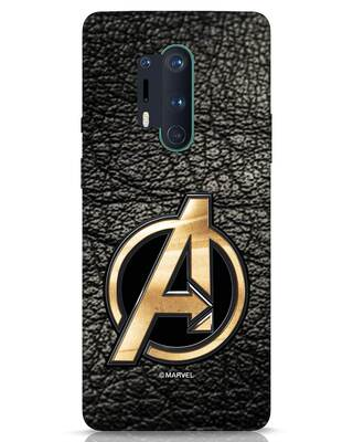 Shop Avengers Gold Logo OnePlus 8 Pro Mobile Cover-Front