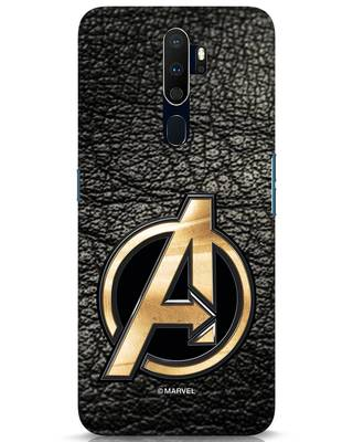 Shop Avengers Gold Logo Oppo A9 2020 Mobile Cover-Front