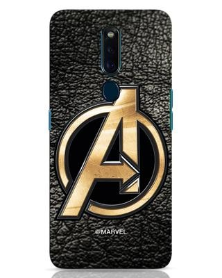 Shop Avengers Gold Logo Oppo F11 Pro Mobile Cover-Front