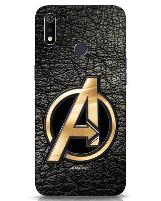 Shop Avengers Gold Logo Realme 3i Mobile Cover-Front