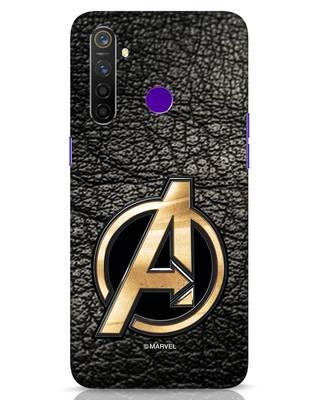 Shop Avengers Gold Logo Realme 5 Pro Mobile Cover-Front