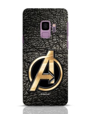 Shop Avengers Gold Logo Samsung Galaxy S9 Mobile Cover-Front