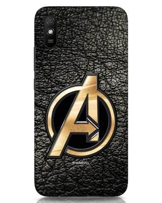 Shop Avengers Gold Logo Xiaomi Redmi 9A Mobile Cover-Front