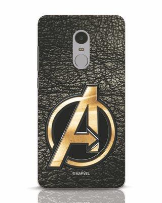 Shop Avengers Gold Logo Xiaomi Redmi Note 4 Mobile Cover-Front