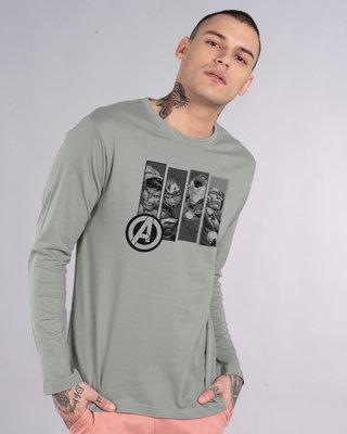 Shop Avengers Heroes Full Sleeve T-Shirt (AVL)-Front