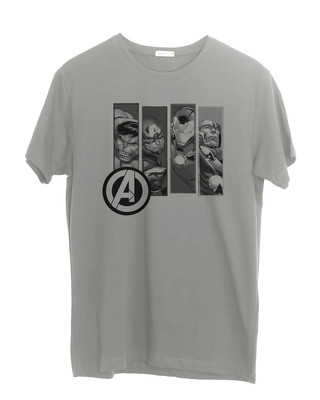 Shop Avengers Heroes Half Sleeve T-Shirt (AVL)-Front