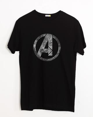 Buy Avengers Logo Distressed Half Sleeve T-Shirt (AVL) Online India @ Bewakoof.com