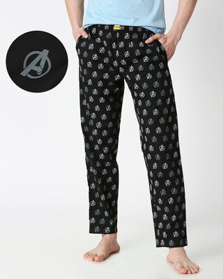 Shop Avengers Logo Only All Over Printed Pyjama (AVL)-Front