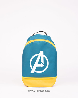 Shop Avengers Minimal Logo Printed Small Backpack-Front