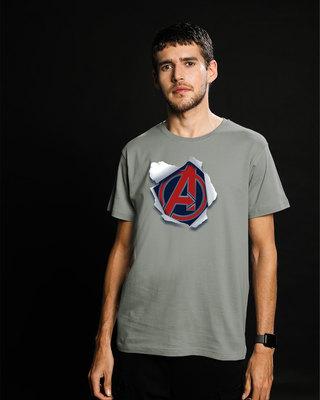 Shop Avengers Paper Half Sleeve T-Shirt (AVL)-Front