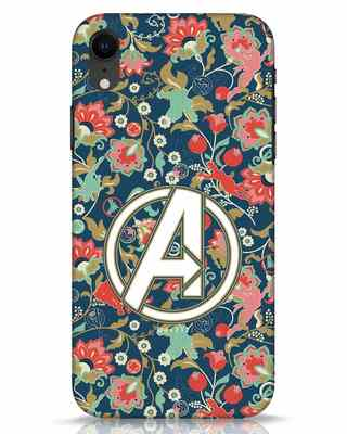Shop Avengers Sketch iPhone XR Mobile Cover (AVL)-Front