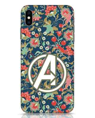 Shop Avengers Sketch iPhone XS Max Mobile Cover (AVL)-Front