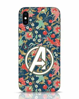 Shop Avengers Sketch iPhone XS Mobile Cover (AVL)-Front