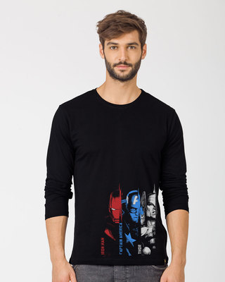 Shop Avengers Trio Full Sleeve T-Shirt (AVL)-Front