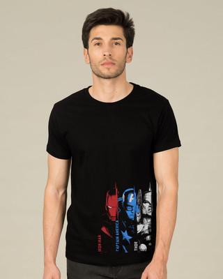 Shop Avengers Trio Half Sleeve T-Shirt (AVL)-Front
